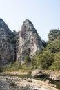 Heshng brook this photo was taken in rock shiweiyan scenic area nanxi river scenic area yongjia county zhejiang province china Royalty Free Stock Photos