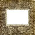 Het album van Grunge voor de foto met oude nota's Royalty-vrije Stock Foto