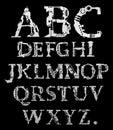 Het alfabet van Cyber Royalty-vrije Stock Foto's