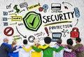 Het behoren tot een bepaald rasmensen team togetherness security protection concept Royalty-vrije Stock Afbeelding