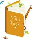 Het boek van Life´s (vector) Stock Fotografie
