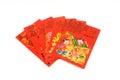 Het chinese rood wikkelt Stock Foto's