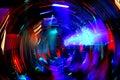 Het Dansen van de Club van de Nacht van de disco Stock Foto's