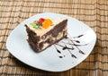Het dessert van de chocolade cake.sweet Stock Afbeelding