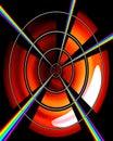 Het Doel van de regenboog Stock Afbeelding