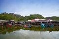 Het dorp van de visser in Thailand Royalty-vrije Stock Afbeeldingen
