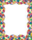Het foto-kader van bloemen Stock Foto's
