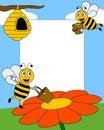 Het Frame van de Foto van de Bijen van het beeldverhaal [2] Royalty-vrije Stock Foto