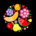 Het fruitachtergrond van de energie voor uw ontwerp Royalty-vrije Stock Afbeelding