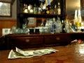 Het Geld van het uiteinde op de Staaf Royalty-vrije Stock Afbeelding