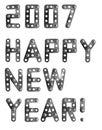 Het gelukkige nieuwe jaar van 2007 Stock Afbeeldingen