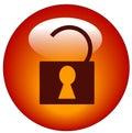 Het geopende pictogram van het hangslotWeb Royalty-vrije Stock Afbeeldingen