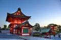 Het heiligdomingang van fushimiinari kyoto Stock Foto's