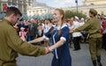 Het jonge vrouw en man dansen Royalty-vrije Stock Fotografie