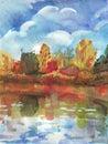 Het landschap van de herfst Stock Fotografie