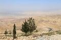 Het landschap van de woestijnberg luchtmening jordanië midden oosten Royalty-vrije Stock Fotografie