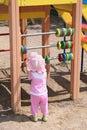Het leren van de baby telling Royalty-vrije Stock Foto