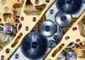 Het mechanisme van het horloge Royalty-vrije Stock Afbeeldingen