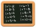 Het MiniBord van het kind - Math Royalty-vrije Stock Afbeeldingen