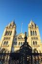 Het nationale Museum van de Geschiedenis in Londen, duidelijke blauwe hemel Stock Afbeelding