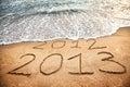 Het nieuwe jaar 2013 komt Stock Foto