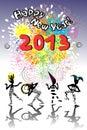 Het nieuwe jaar Carnaval van 2013 Stock Fotografie