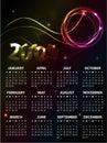 Het Ontwerp 2012 van de kalender Royalty-vrije Stock Afbeelding