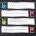 Het ontwerp van de technologie infograph met genummerde knopen Stock Foto