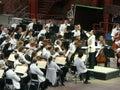 Het Orkest van de Symfonie van Colorado bij Rode Rotsen Royalty-vrije Stock Foto's
