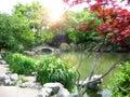 Het parklandschap van de aard, Hangzhou Royalty-vrije Stock Afbeelding