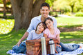 image photo : Family picnicking in the park