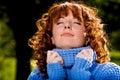 Het portret van de close-up van red-head mooi meisje Royalty-vrije Stock Afbeelding