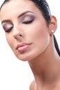 Het portret van de close upschoonheid van aantrekkelijk vrouwelijk model Stock Fotografie
