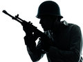 Het portret van de de militairmens van het leger Stock Fotografie