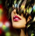 Het Portret van de Vrouw van de manier Stock Foto's