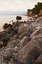 Het rotsachtige zeegezicht van Messinian Royalty-vrije Stock Foto's