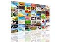 Het schermsamenstelling van TV Stock Afbeelding