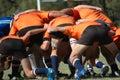 Het scrum van het rugby Royalty-vrije Stock Fotografie