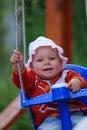 Het slingeren van de baby Royalty-vrije Stock Afbeeldingen