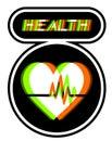 Het symbool van de gezondheid Royalty-vrije Stock Foto's
