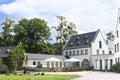 Het terras van nice in een klooster duitsland Royalty-vrije Stock Fotografie