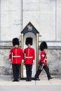 Het veranderen van de Wachten van de Voet bij het Algemene Huis van de Gouverneur Royalty-vrije Stock Foto's