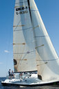Hetman cup regatta kyiv ukraine may sailing crew on sailboat during on may th in kyiv sea dnipro river kyiv ukraine this is the Royalty Free Stock Images