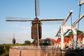 Heusden windmill and drawing bridge in a fortified town in the netherlands Royalty Free Stock Photography