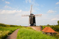 Heusden windmill in a fortified town in the netherlands Royalty Free Stock Photography