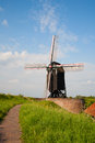 Heusden windmill in a fortified town in the netherlands Royalty Free Stock Photos