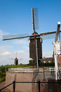 Heusden windmills in a fortified town in the netherlands Royalty Free Stock Image