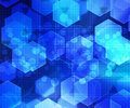 Hex Blue Abstract Background Royalty Free Stock Images