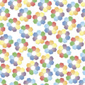 Hex flowers seamless background of bright petals of Royalty Free Stock Photo