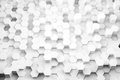 Hex forest background d render illustration of white hexagons of various height Stock Image